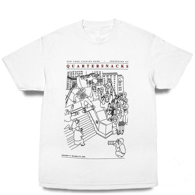 Quartersnacks Presented By... T-Shirt - White | T-Shirt by Quartersnacks 1