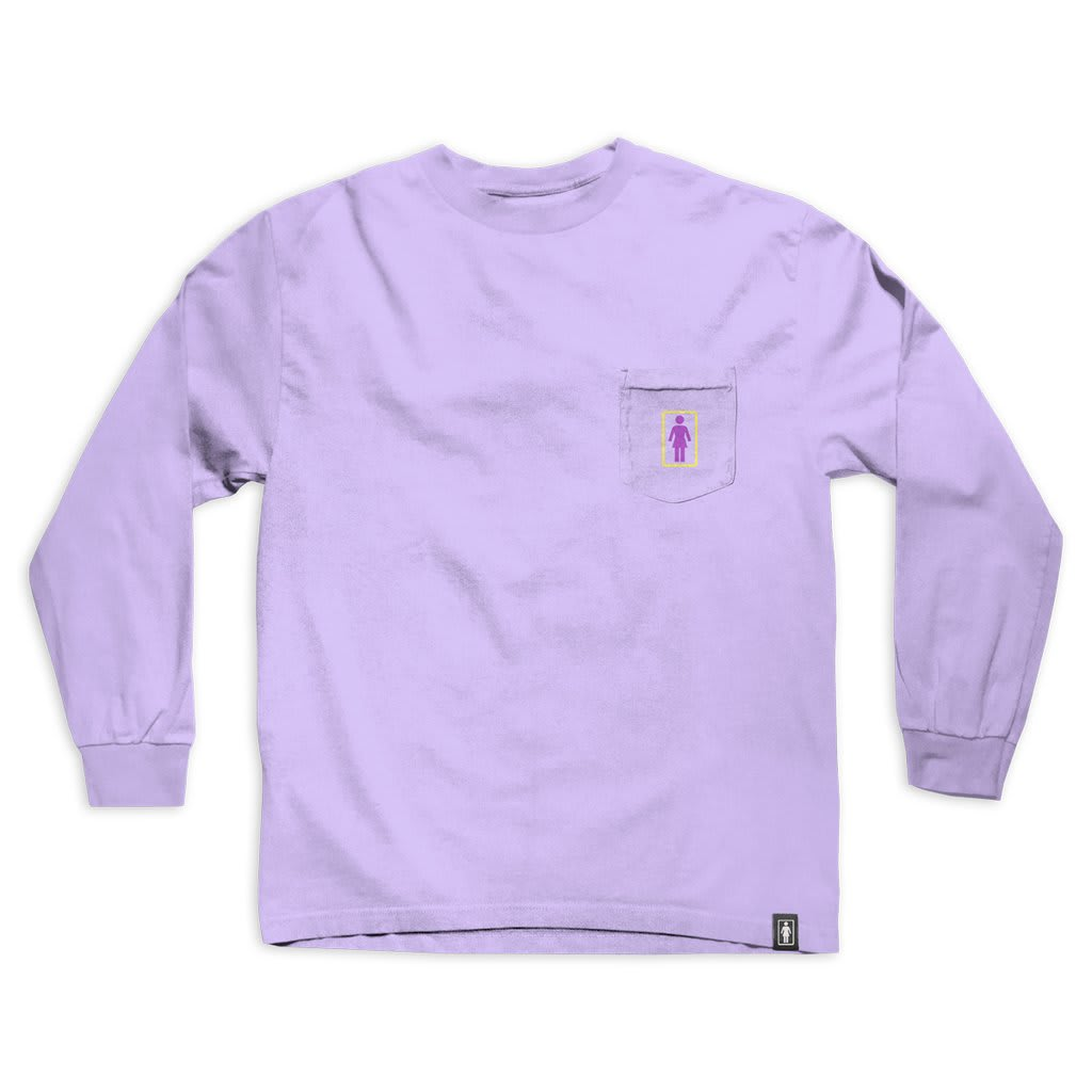 Girl Sanrio Restaurant L/S Tee- (Lavender) | Longsleeve by Girl Skateboards 1