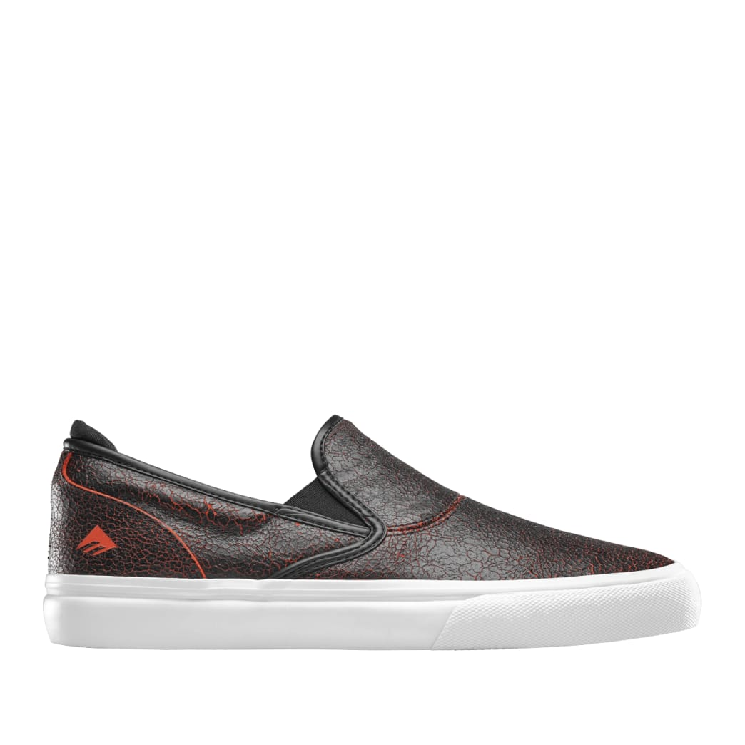 Emerica Wino G6 Slip-On Skate Shoes - Black / Red / White | Shoes by Emerica 1