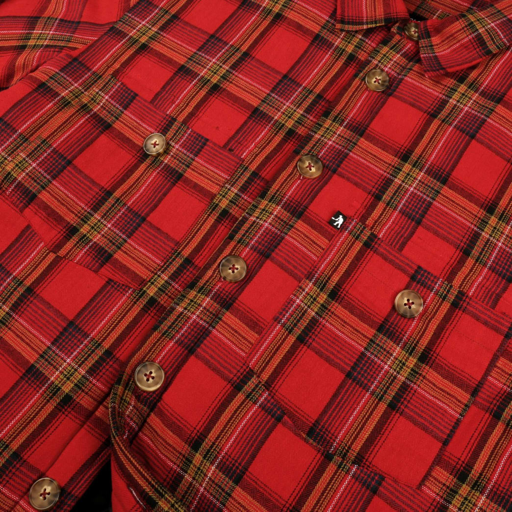 Pass~Port Late Quilted Flannel Jacket - Red | Jacket by Pass~Port Skateboards 2