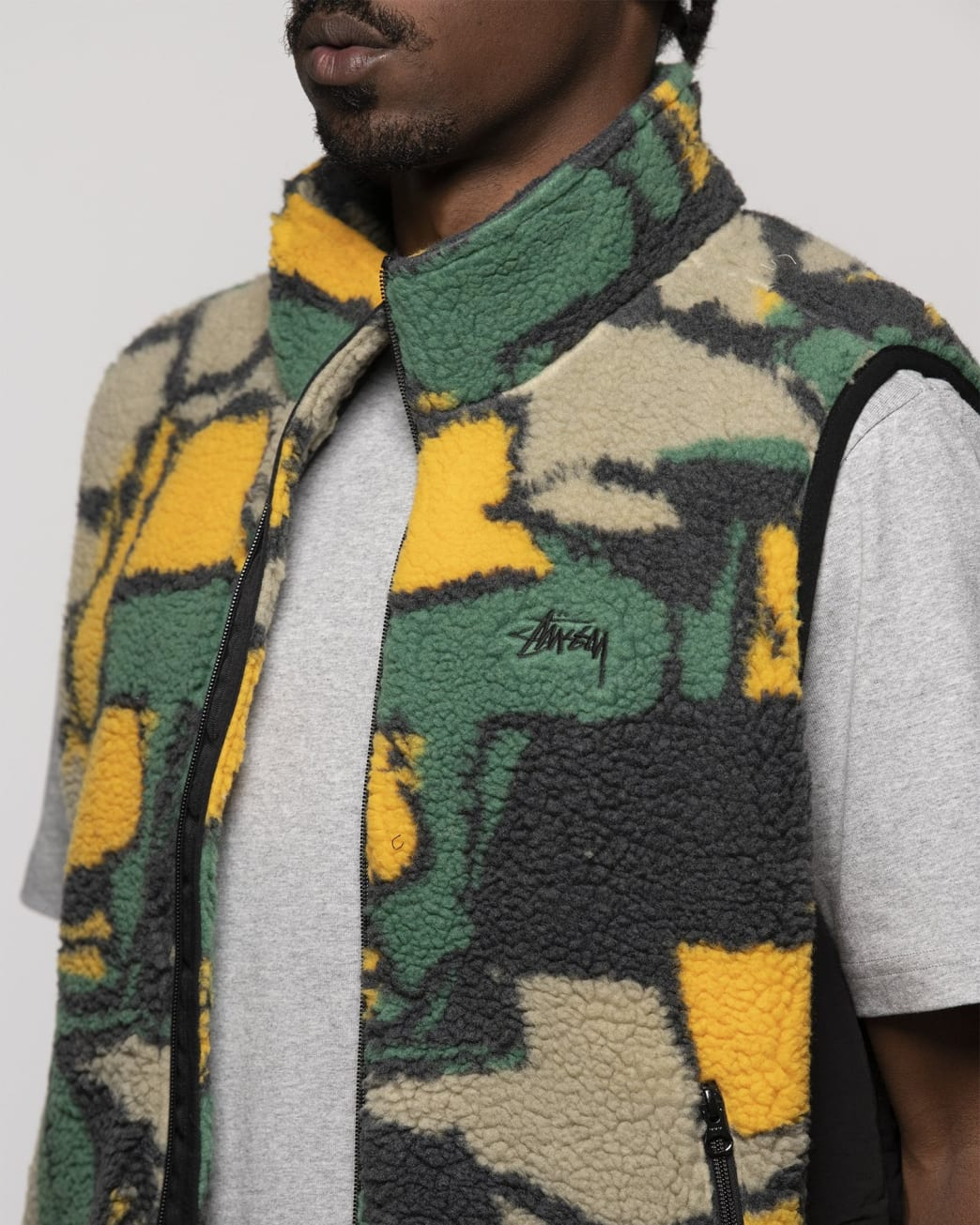 Stüssy Block Sherpa Fleece Vest - Multi | Fleece by Stüssy 4