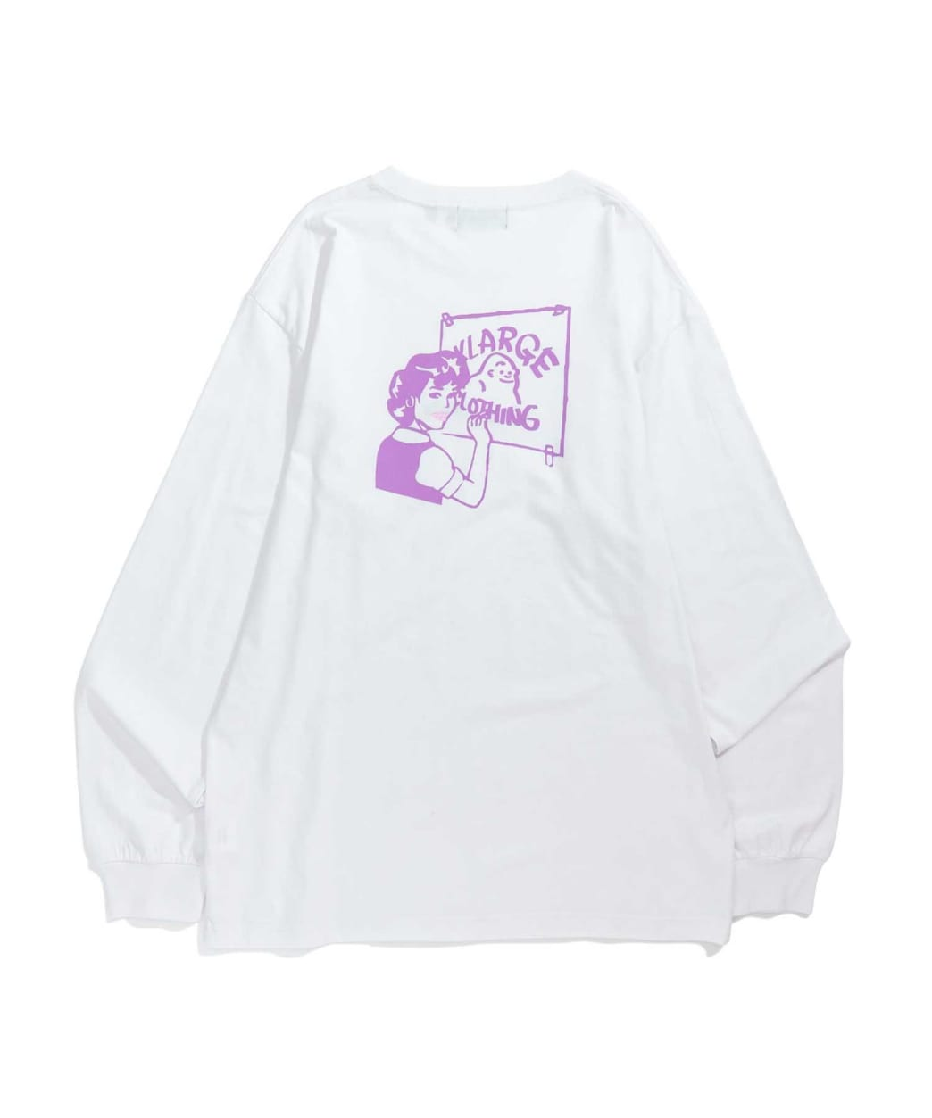 """X-LARGE - """"SMOOTH PAINTHER LONG SLEEVE T-SHIRT"""" (WHITE) 