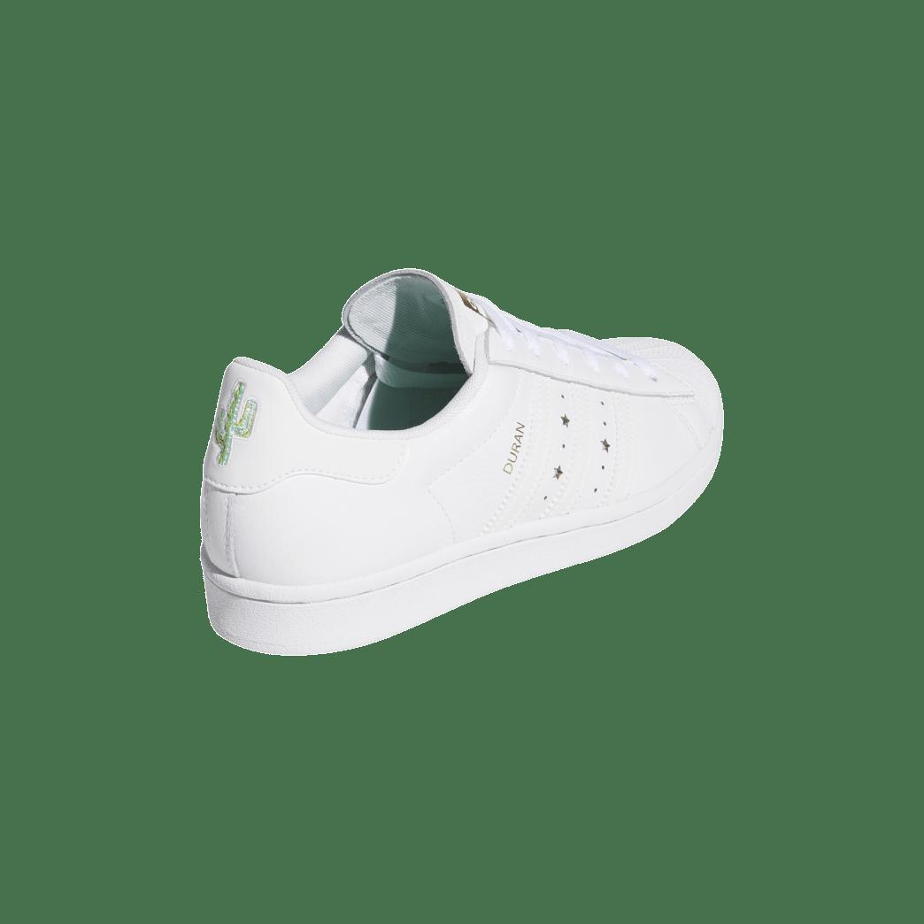 adidas Superstar ADV x Duran Skate Shoe - Cloud White / Cloud White / Cloud White | Shoes by adidas Skateboarding 6