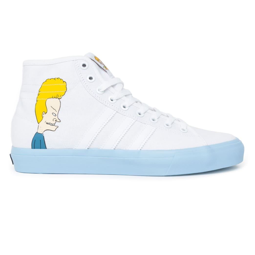 Adidas Matchcourt High RX x Beavis and Butthead Shoes - White Ice Blue Black ddf4f6aad