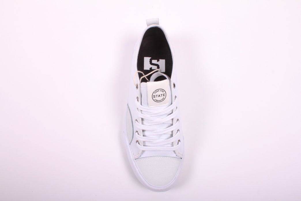 State Harlem White/White Canvas Suede | Shoes by State Footwear 2