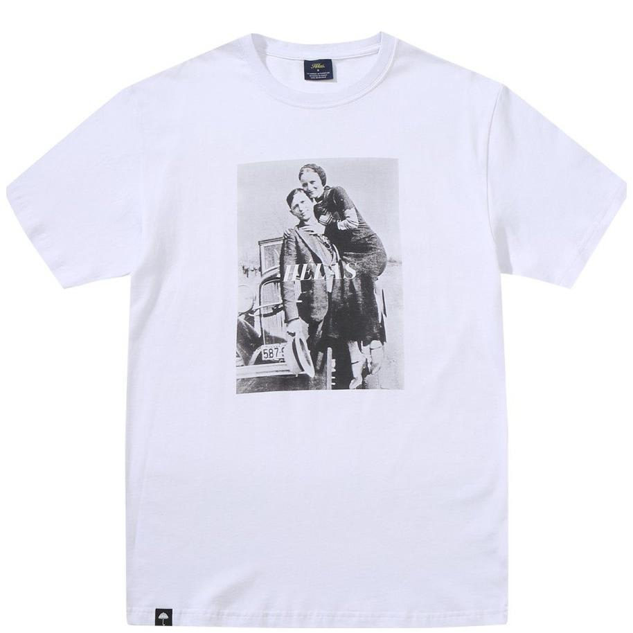 Hélas Bonnie And Clyde T-Shirt - White | T-Shirt by Hélas 1