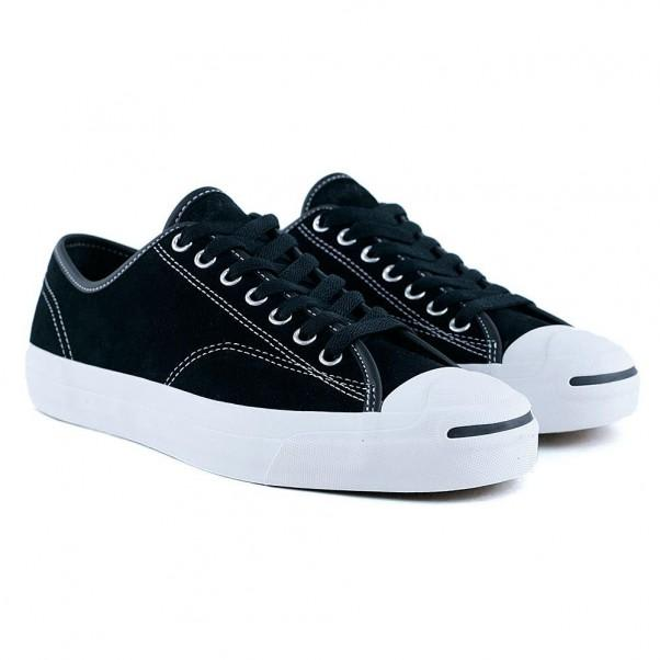 9bcec7ed15aa Shop Converse Jack Purcell Pro OX Shoes - Black Black Black White ...