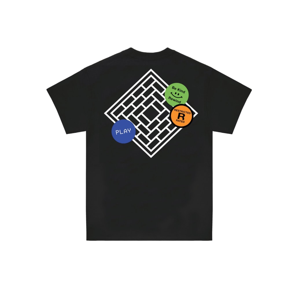 The National Skateboard Co. Tapes T-Shirt - Black | T-Shirt by The National Skateboard Co. 2