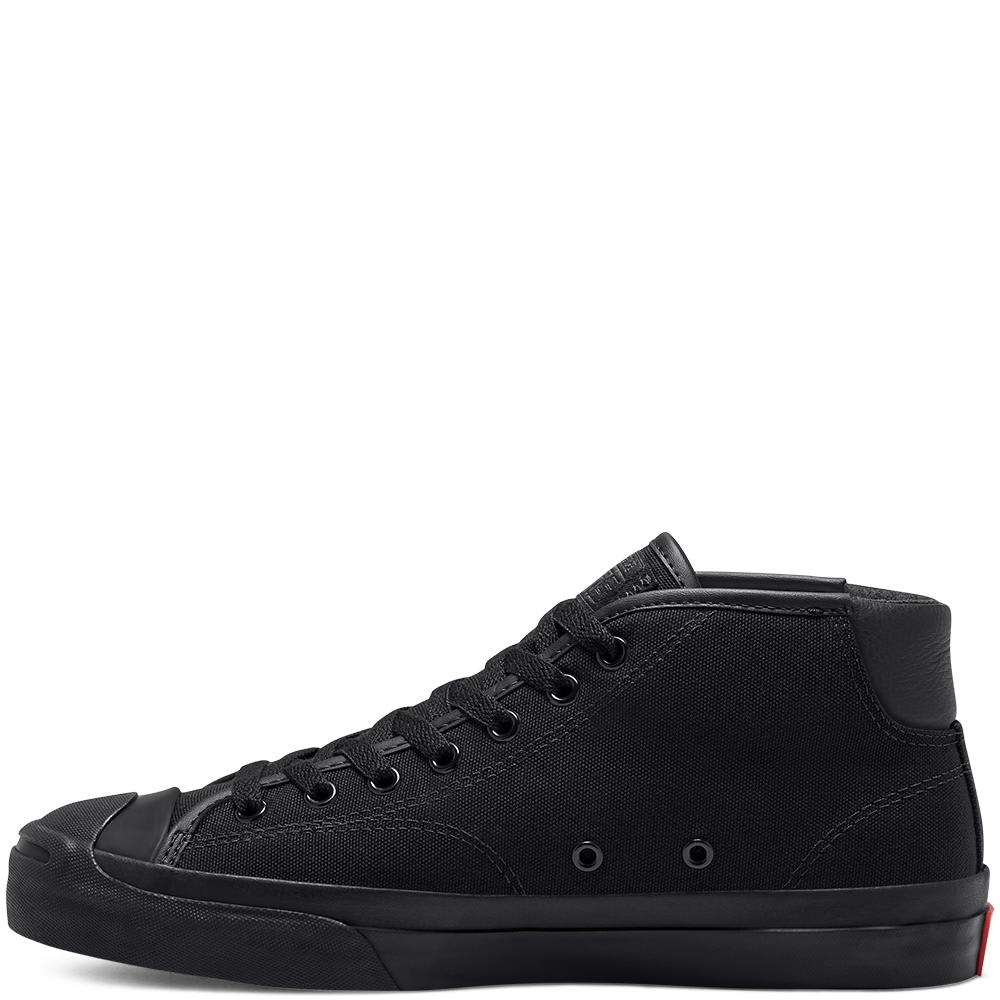 Converse Cons Jack Purcell Pro Mid Skate Shoes - Black / Enamel Red / Black   Shoes by Converse Cons 2