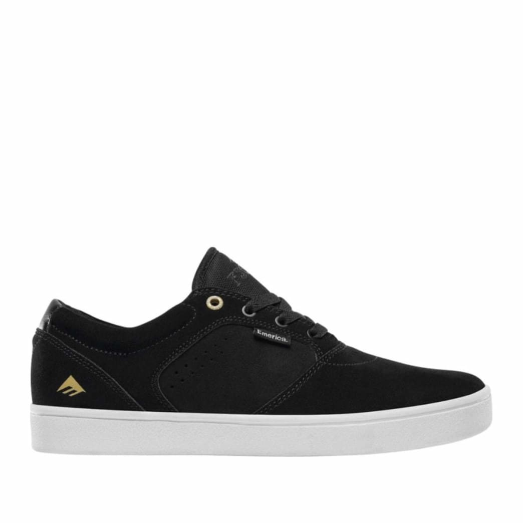 Emerica Figgy Dose Skate Shoes - Black / White / Gold | Shoes by Emerica 1
