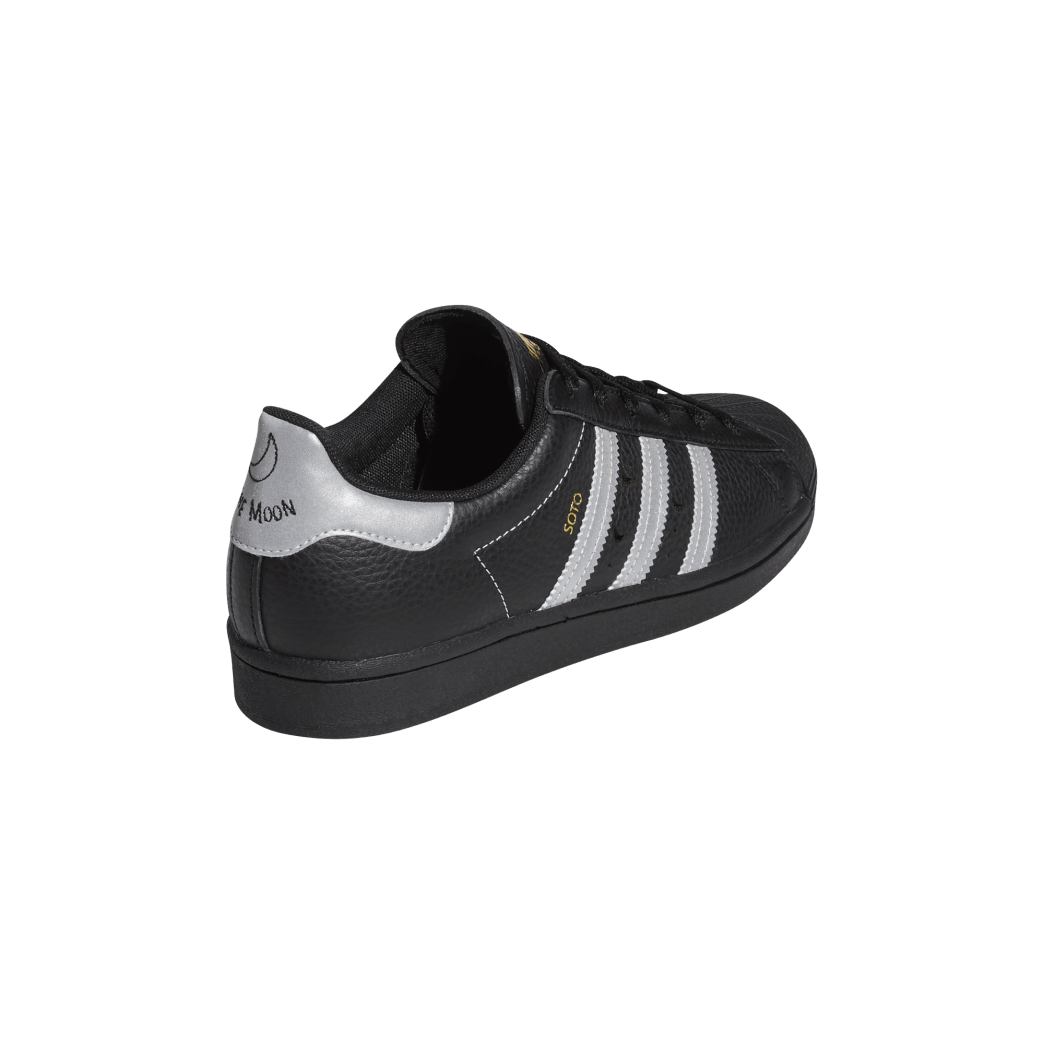 adidas Superstar ADV x Soto Skate Shoe - Core Black / Silver Met / Gold Met | Shoes by adidas Skateboarding 6
