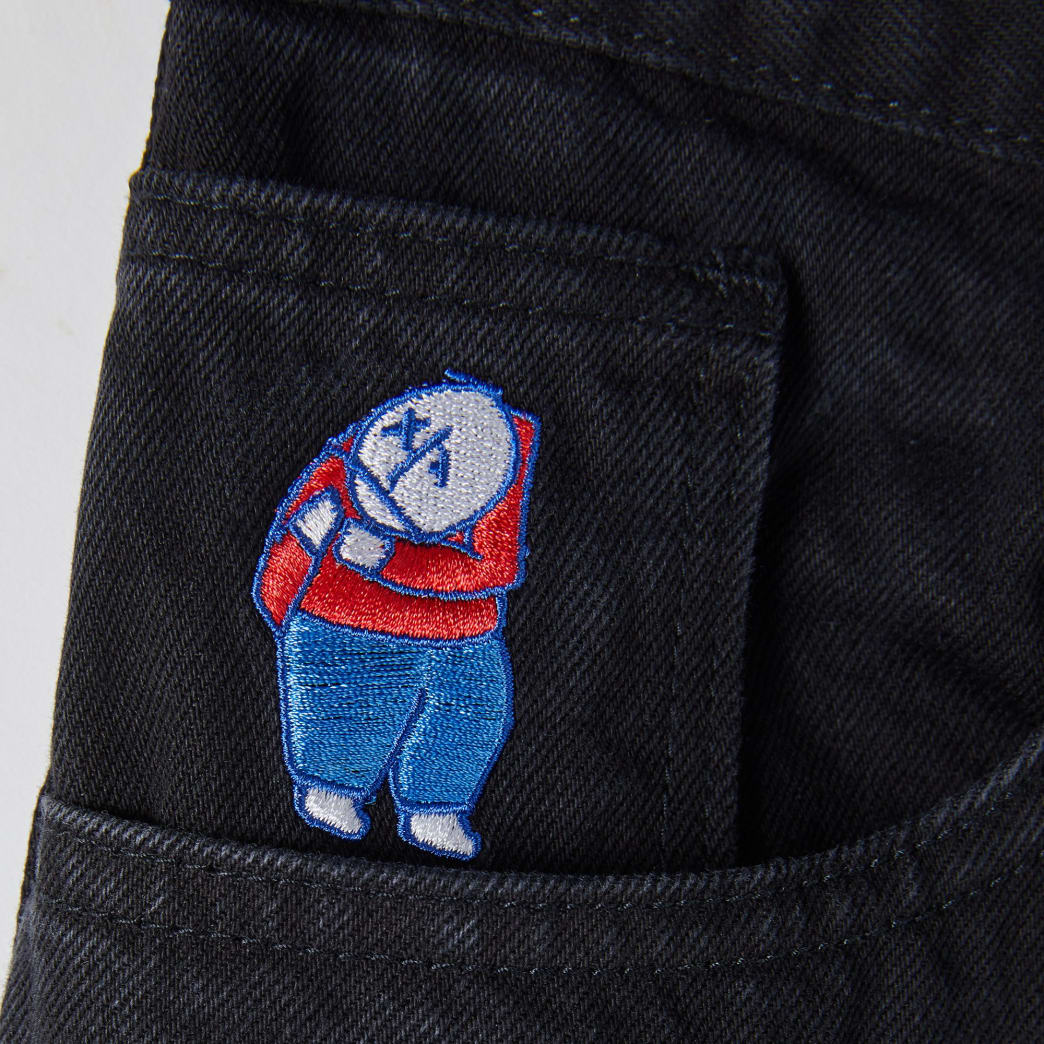 Polar Skate Co Big Boy Jeans - Pitch Black   Jeans by Polar Skate Co 5