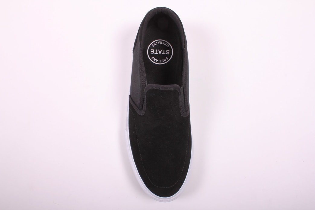State Keys Black/White Suede | Shoes by State Footwear 2