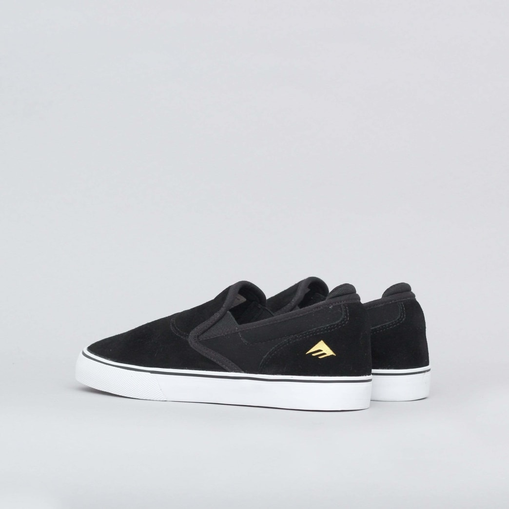 Emerica Wino G6 Slip-On Shoes (Kids) - Black / White / Gold | Shoes by Emerica 4