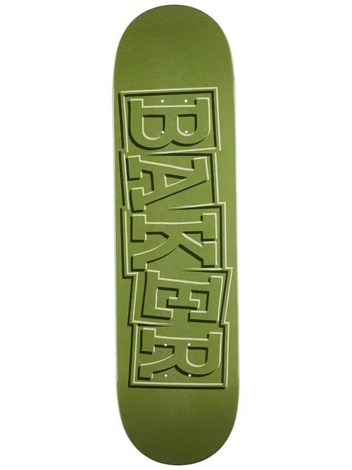 Baker T-Funk Ribbon Green Deck- 8.5 | Deck by Baker Skateboards 1