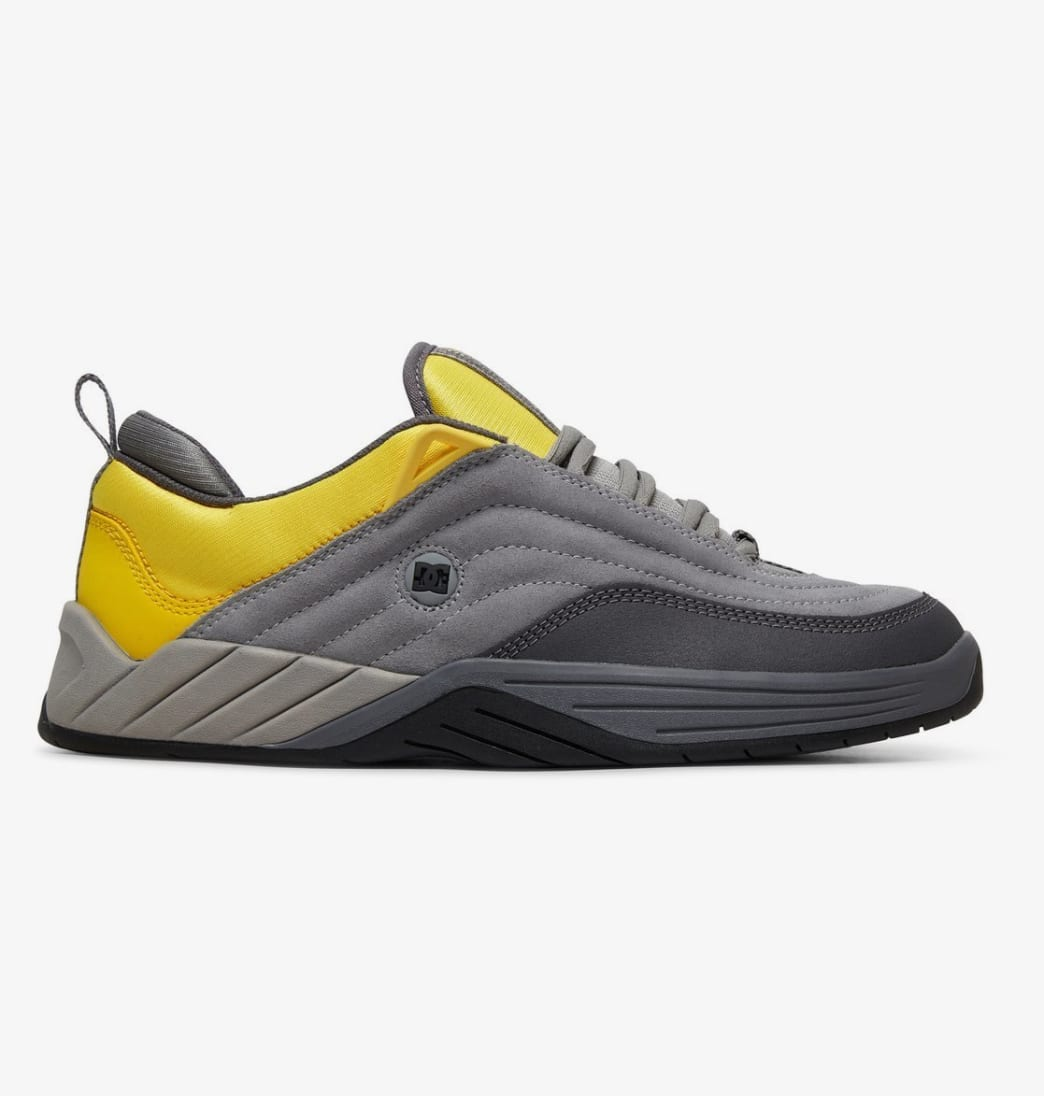 DC Williams Slim S Skateboarding Shoes - Grey/Yellow | Shoes by DC Shoes 1