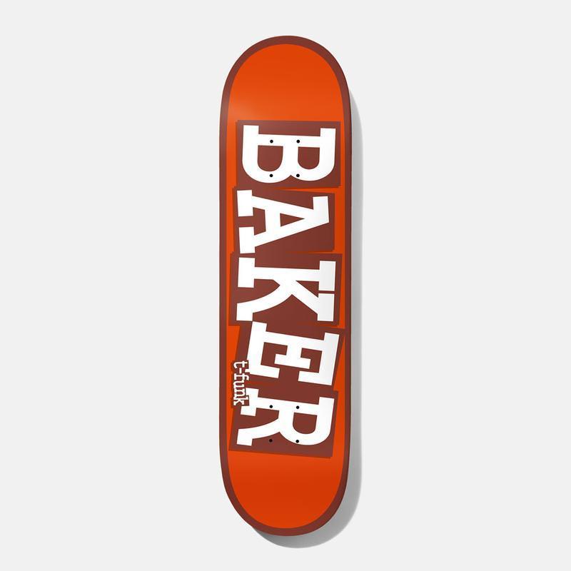 "Baker Skateboards T Funk Ribbon Name Fire B2 Skateboard Deck - 8.5""   Deck by Baker Skateboards 1"
