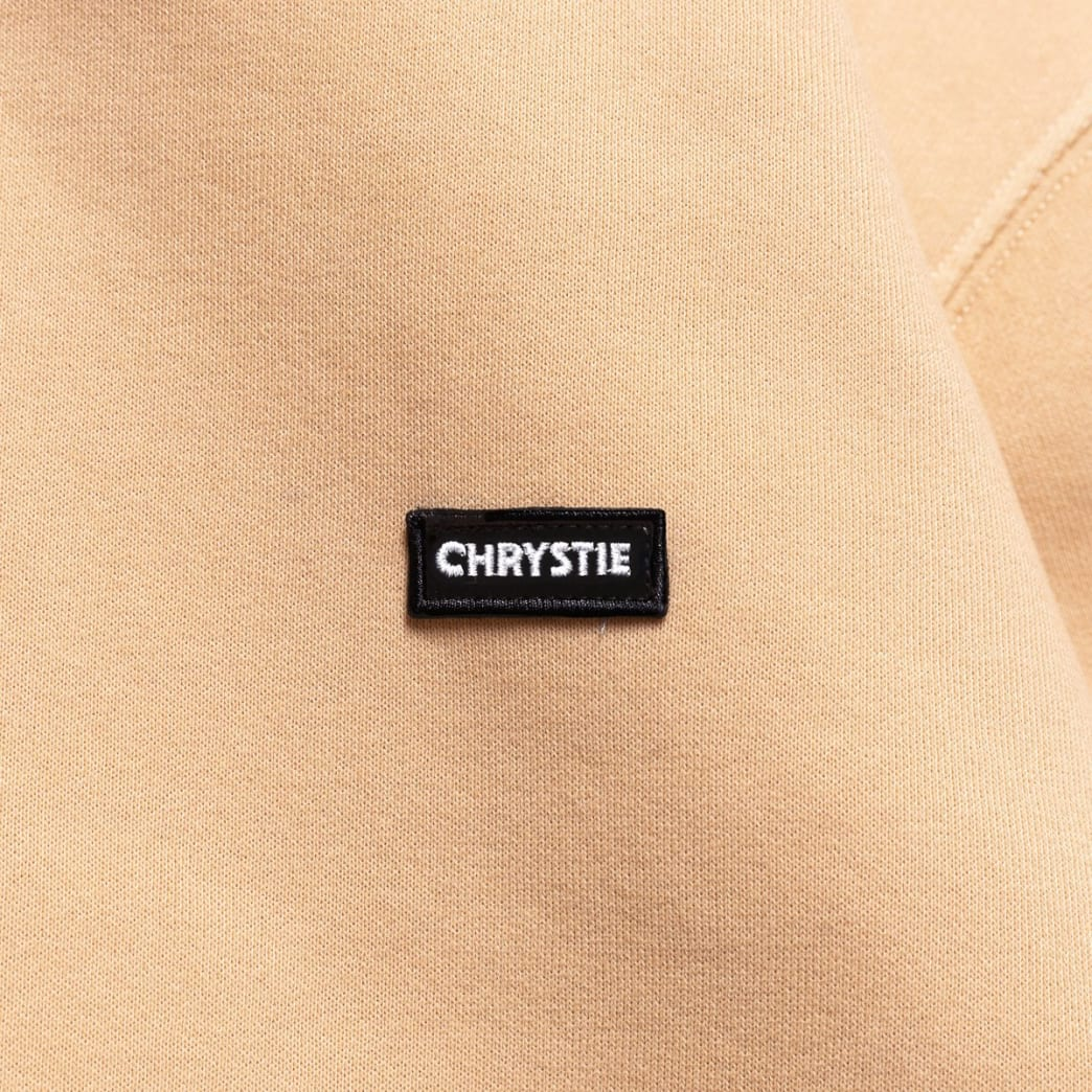 Chrystie NYC Small OG Patch Logo Hoodie - Peach | Hoodie by Chrystie NYC 2