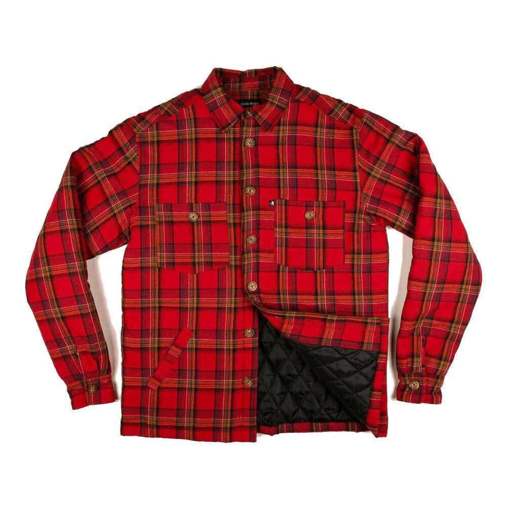 Pass~Port Late Quilted Flannel Jacket - Red | Jacket by Pass~Port Skateboards 1