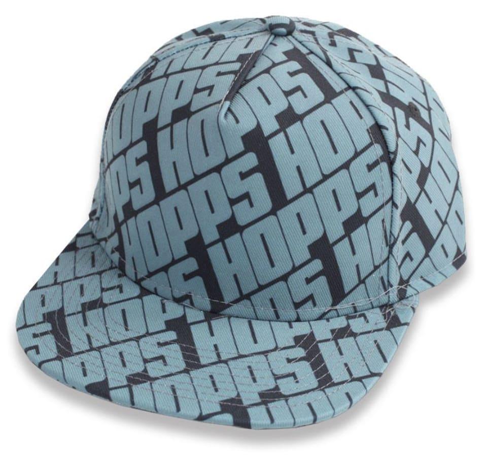 HOPPS - ALL-OVER STRAPBACK CAP BLACK/BLUE | Baseball Cap by Hopps 1