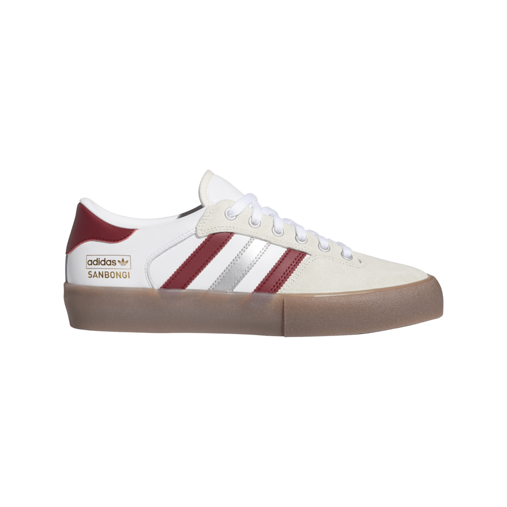 Adidas Matchbreak Super Shin Sanbongi Skateboarding Shoes - FTWR White / Collegiate Burgundy / Gum 4 | Shoes by adidas Skateboarding 1