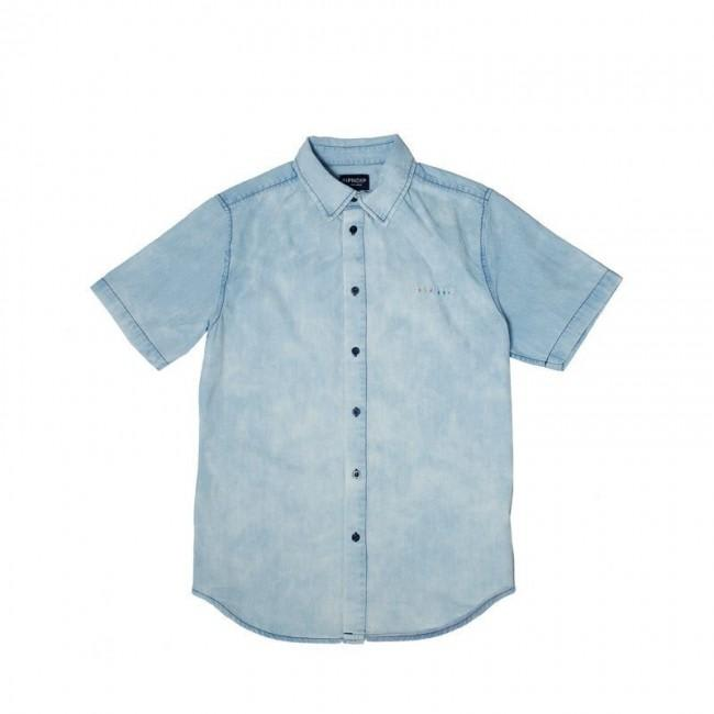 Rip n Dip Islander Button Up Shirt - Indigo Acid Wash | Shirt by Ripndip 1