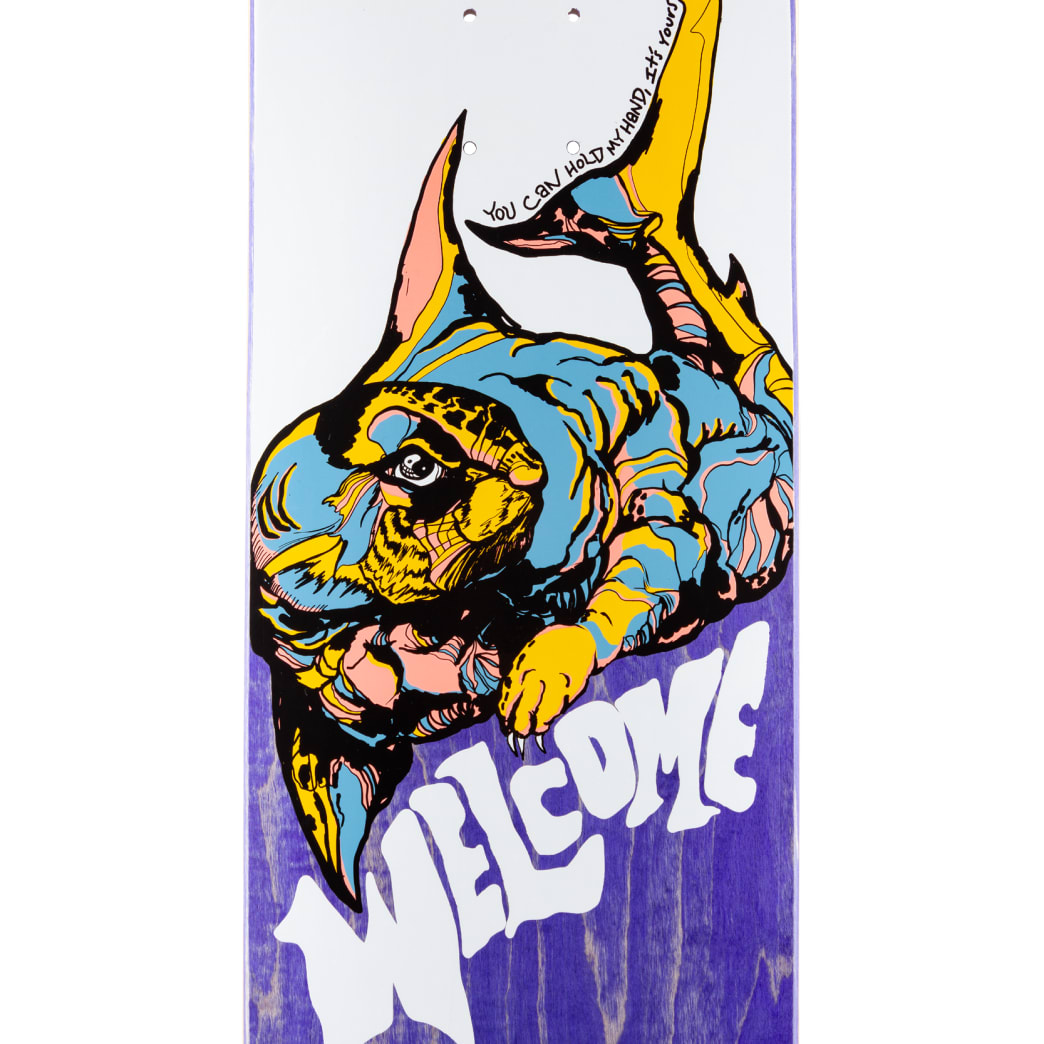 """Welcome Skateboards Otter on Nibiru 2 Skateboard Deck White / Various Stains - 8.75"""" 