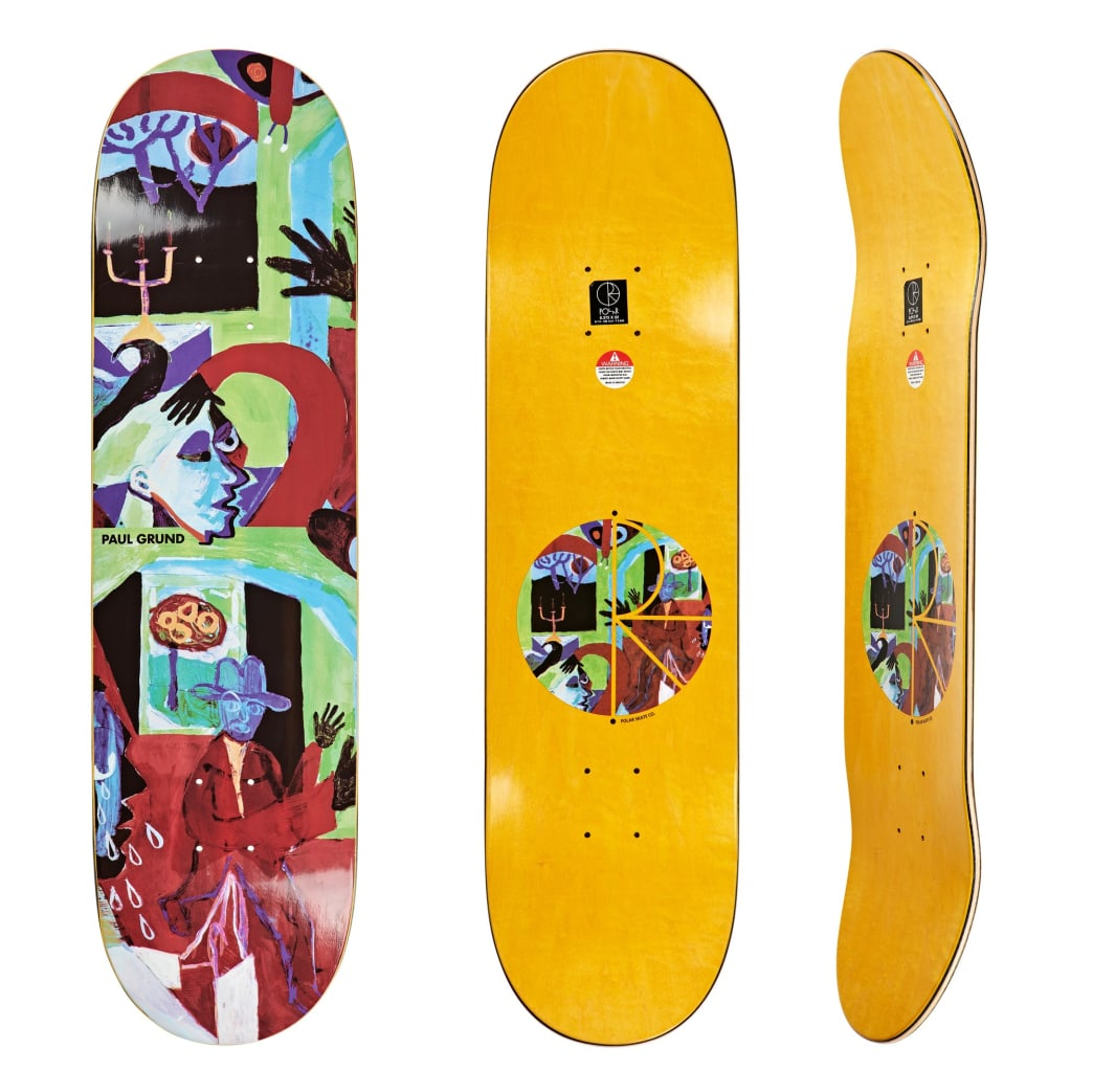 "Polar Skate Co Paul Grund Moth House Skateboard Deck - 8.375""   Deck by Polar Skate Co 1"