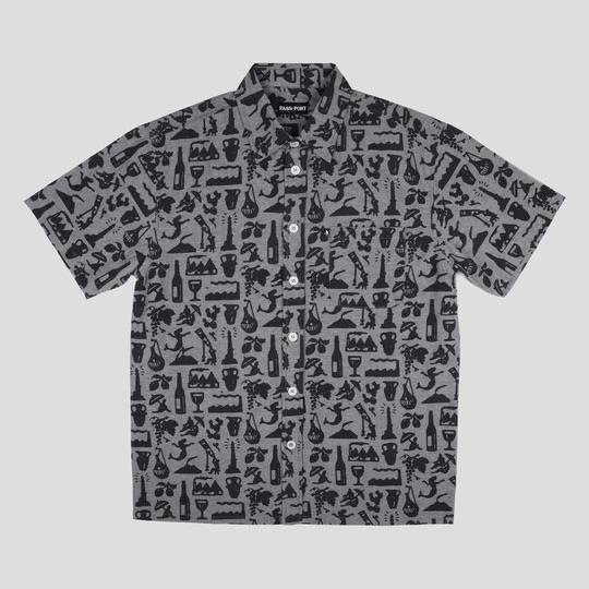 Passport Skateboards - Life of Leisure S/S Button Up Shirt Black | Shirt by Pass~Port Skateboards 1