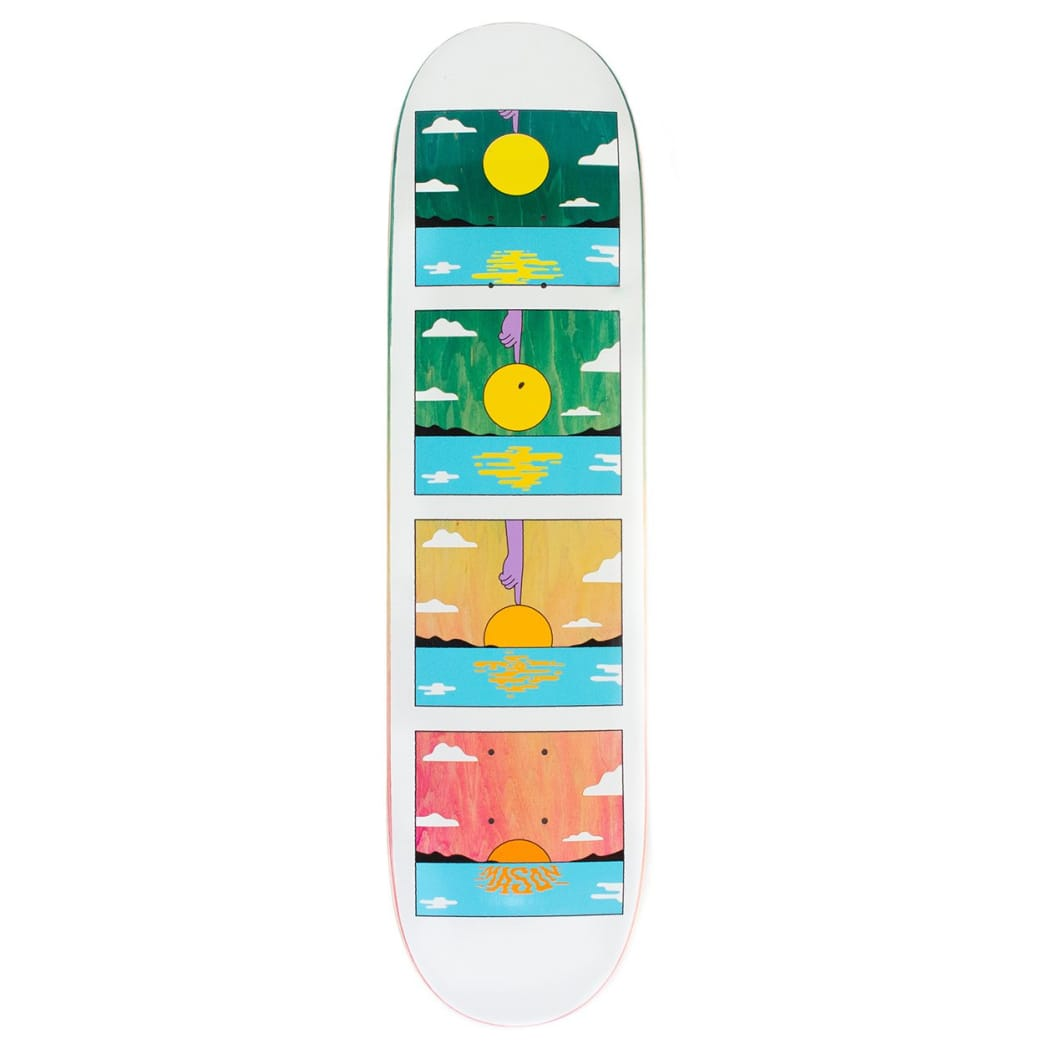 """Real Mason Silva Sunset Deck 8.06""""   Deck by Real Skateboards 1"""