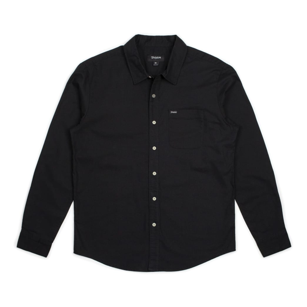 BRIXTON Charter Oxford Longsleeve Woven Black | Shirt by Brixton 1