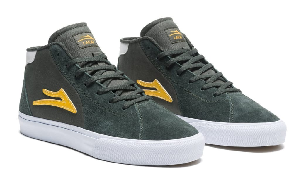 Lakai Flaco 2 Mid Suede Skate Shoes - Olive / Yellow | Shoes by Lakai 2