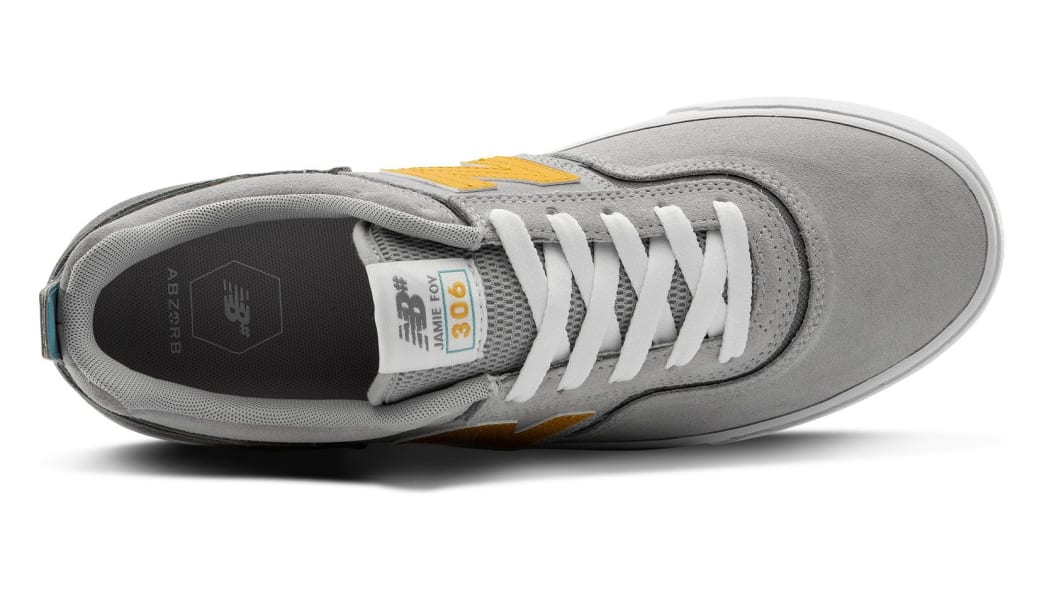 New Balance Numeric 306 Skate Shoe - Grey / Yellow | Shoes by New Balance 3