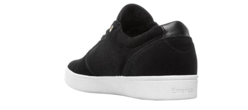 Emerica Figgy Dose Skate Shoes - Black / White / Gold | Shoes by Emerica 3