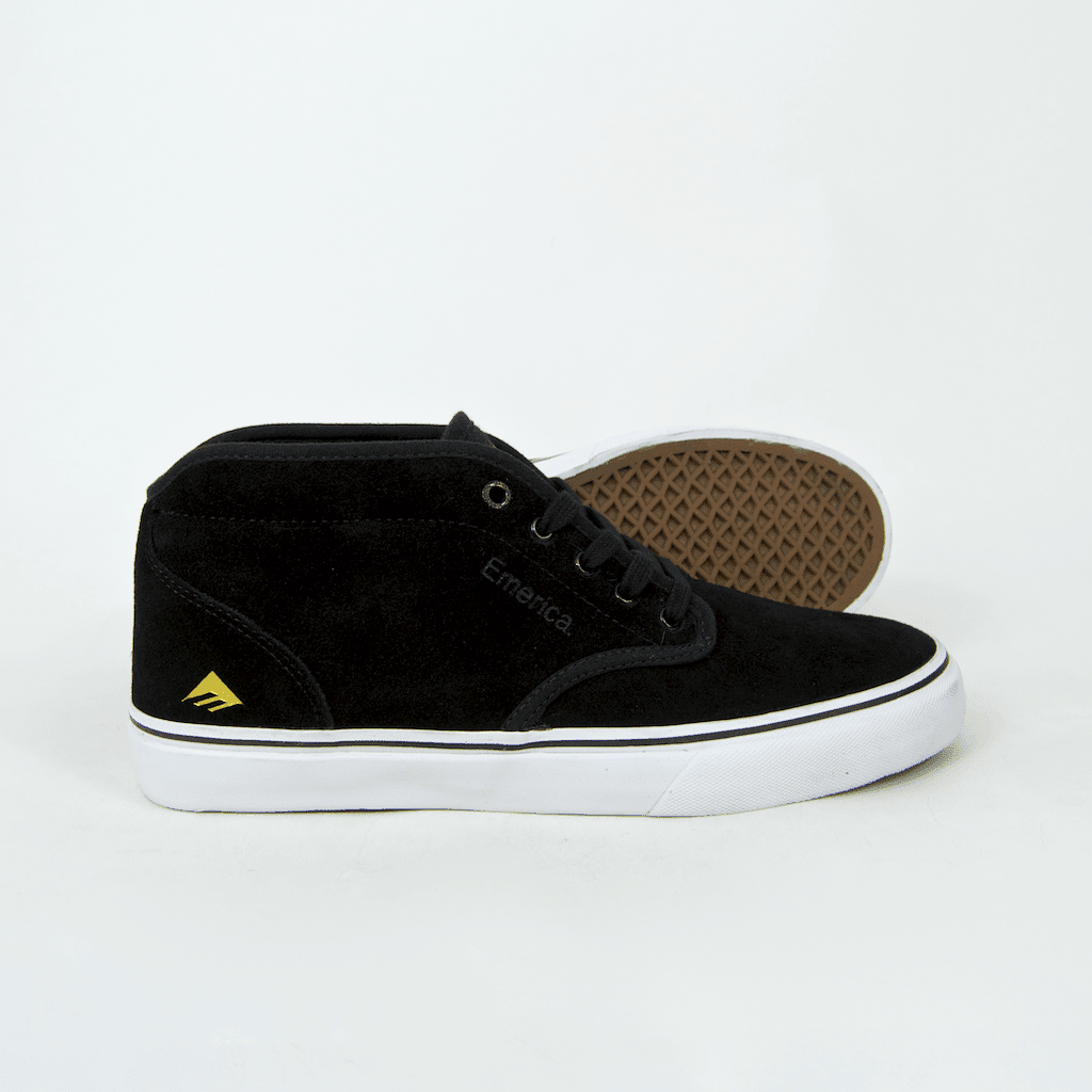 Emerica - Wino G6 Mid Shoes - Black / White / Gold | Shoes by Emerica 2