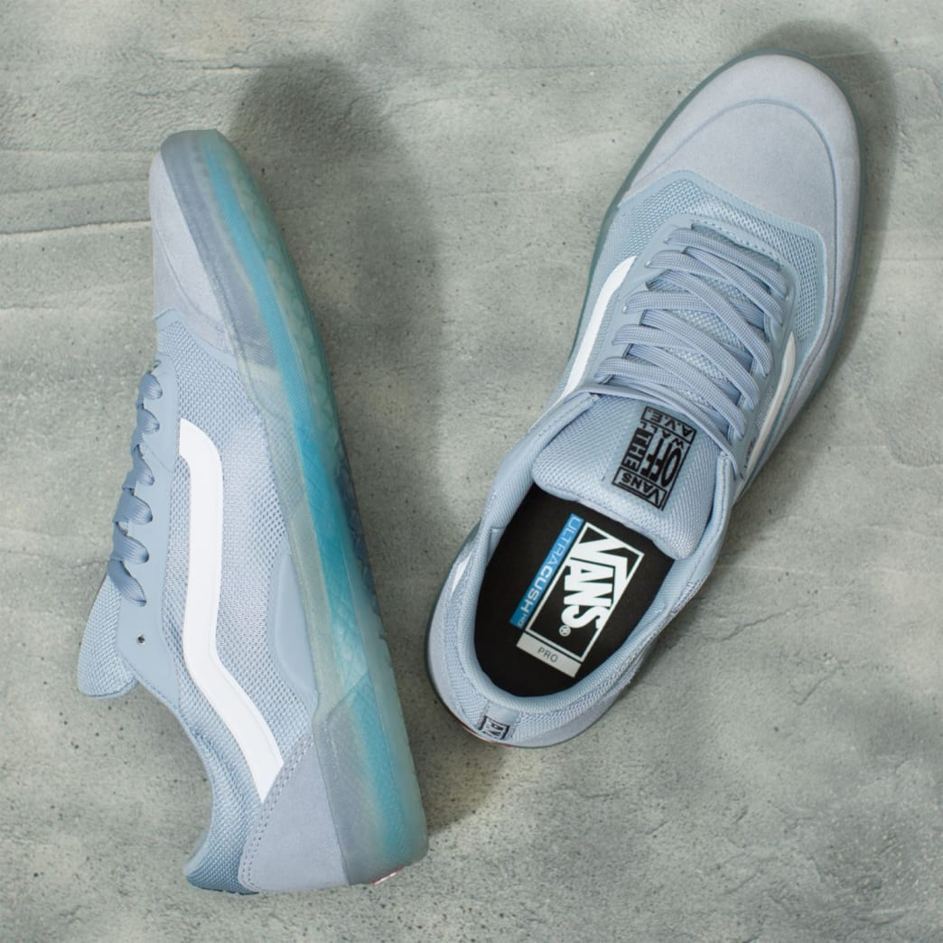 Vans AVE Pro Skateboard Shoes - Blue Fog/White | Shoes by Vans 3