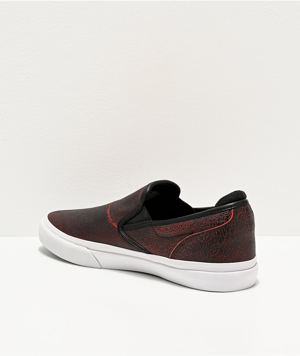 Emerica Wino G6 Slip-On Skate Shoes - Black / Red / White | Shoes by Emerica 2