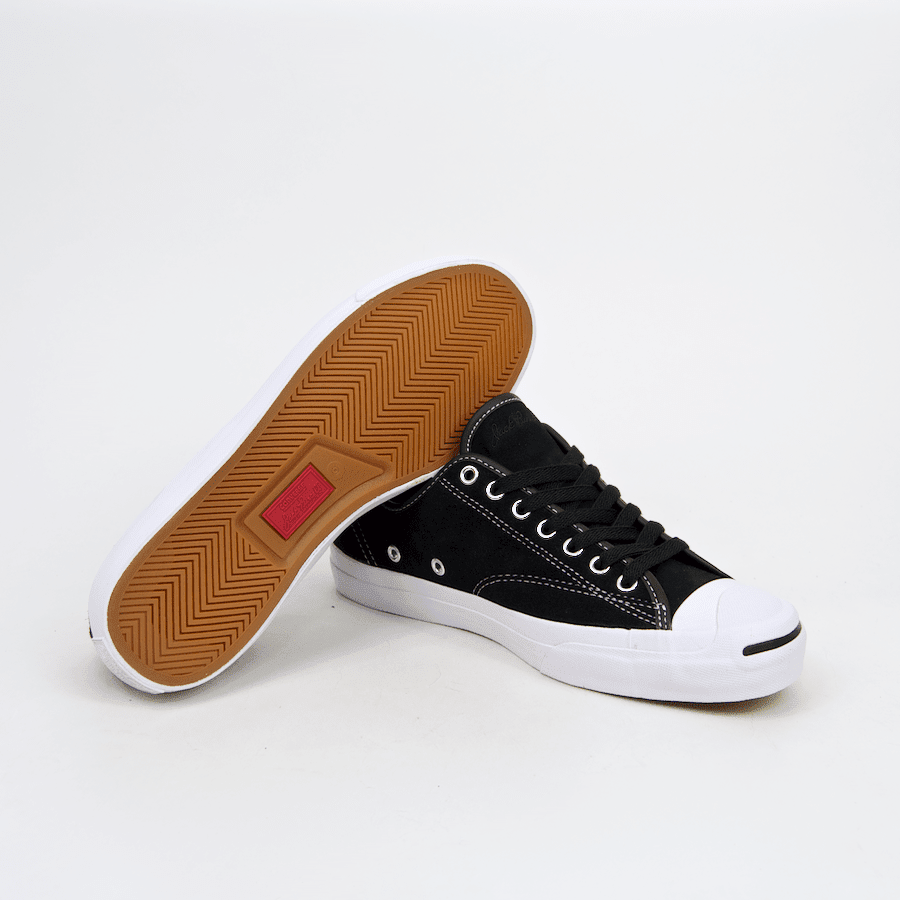 Converse Cons - Jack Purcell Pro OX (Suede) Shoes - Black / Black / White | Shoes by Converse Cons 3