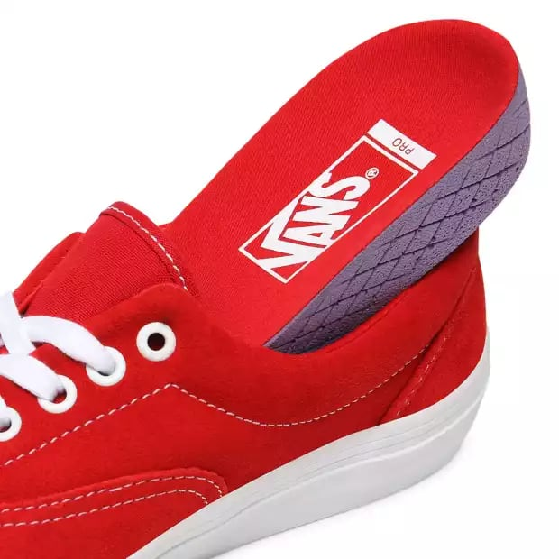 Vans Era Pro Skate Shoes - Red / White | Shoes by Vans 6