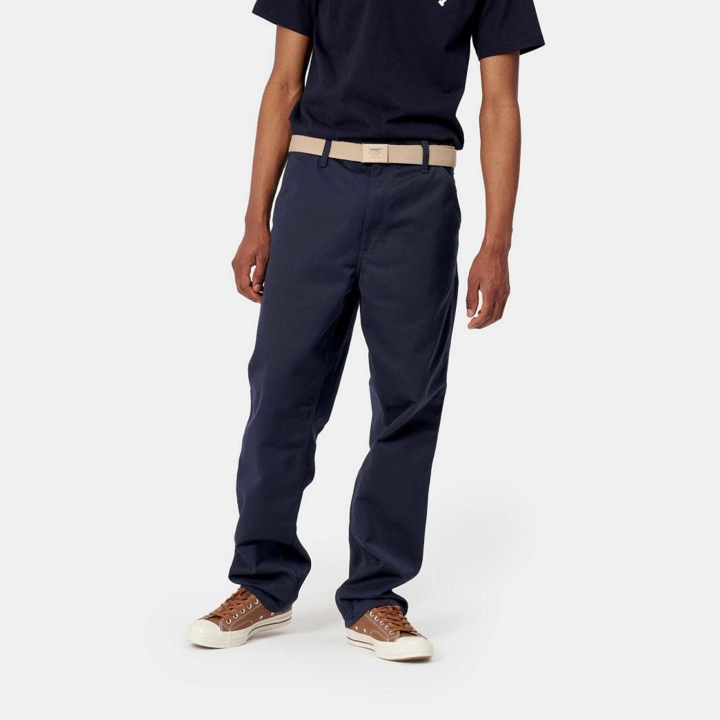 Carhartt WIP Simple Pant - Dark Navy Rinsed | Trousers by Carhartt WIP 5