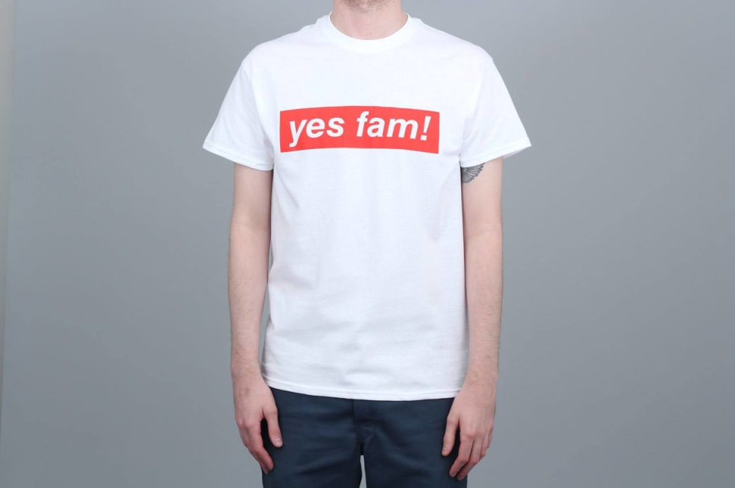 Yes Fam! Logo T-Shirt - White / Red | T-Shirt by Yes Fam! 1