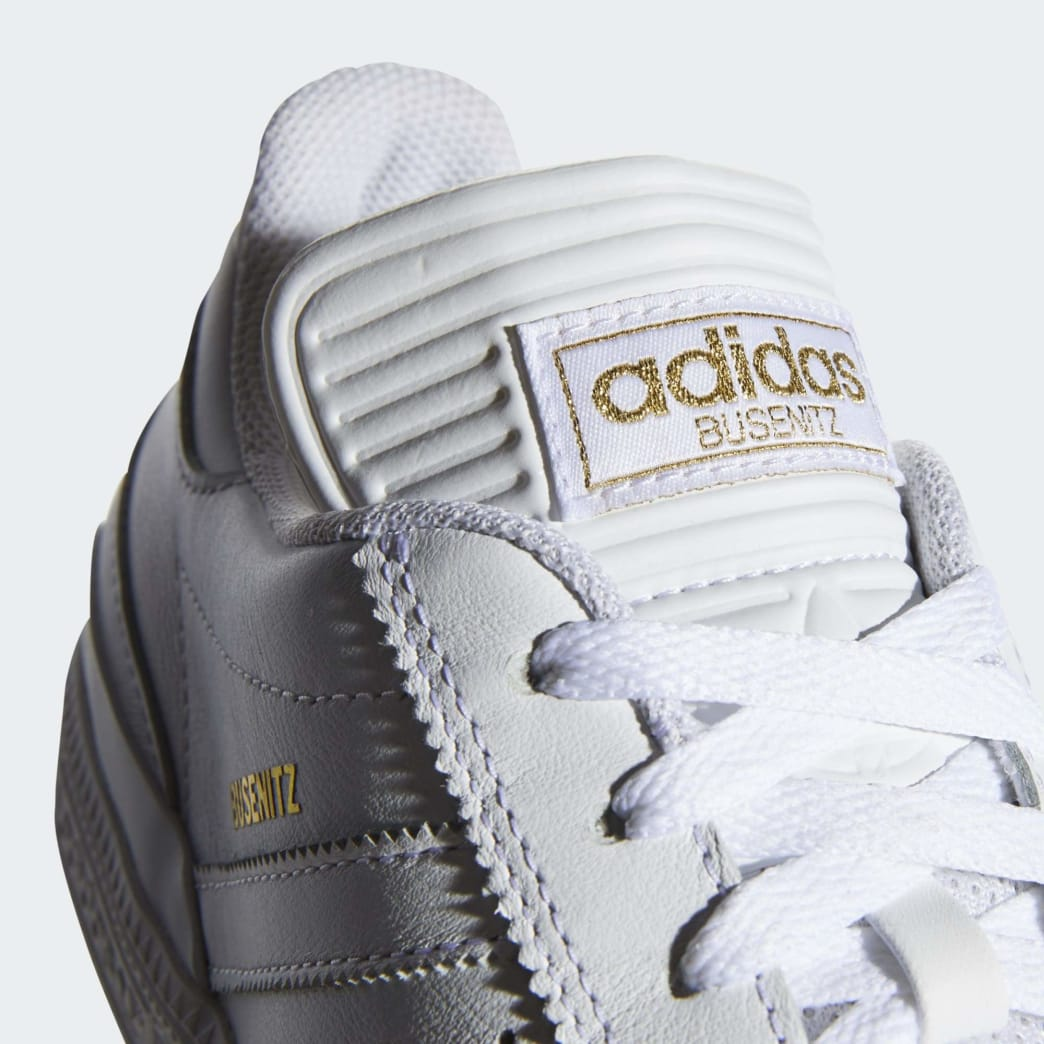 Adidas Busenitz Shoes - Cloud White/Gold Metallic/Cloud White | Shoes by adidas Skateboarding 7
