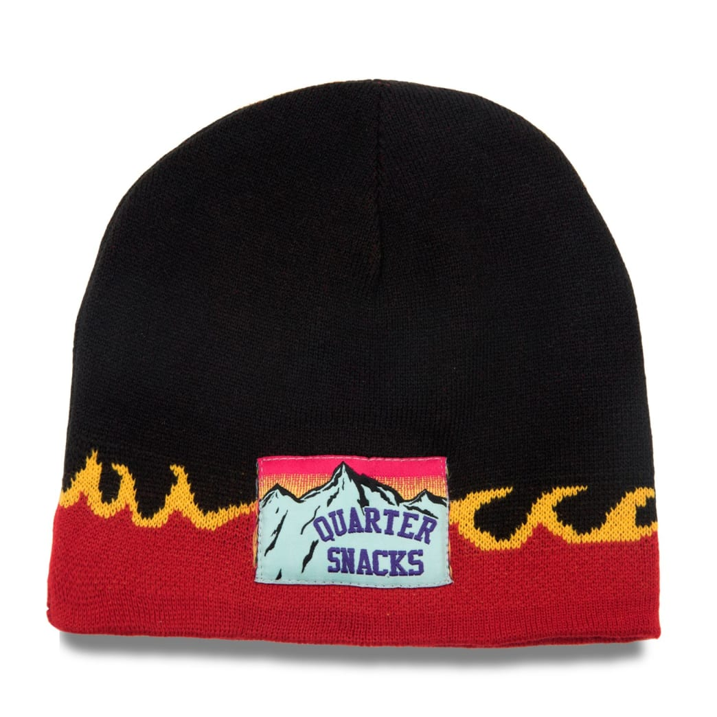 Quartersnacks Flame Beanie Black | Beanie by Quartersnacks 1
