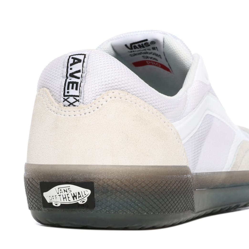 Vans AVE Pro Skate Shoes - White / Smoke | Shoes by Vans 6