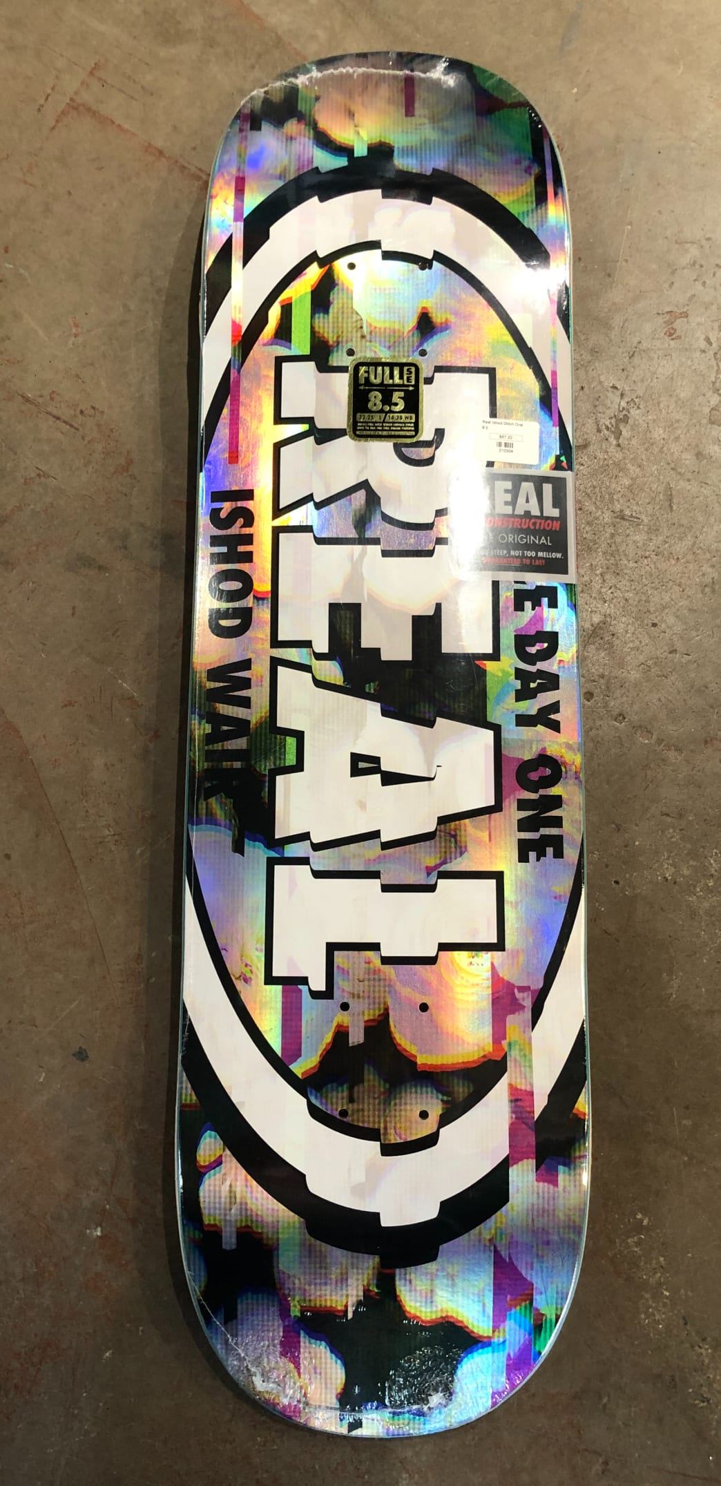 Real Ishod Wair Glitch Oval Deck | Deck by Real Skateboards 1