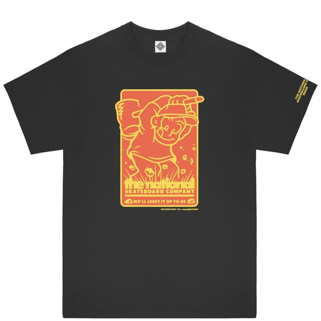 The National Skateboard Co Hook Up T-Shirt - Black | T-Shirt by The National Skateboard Co. 1