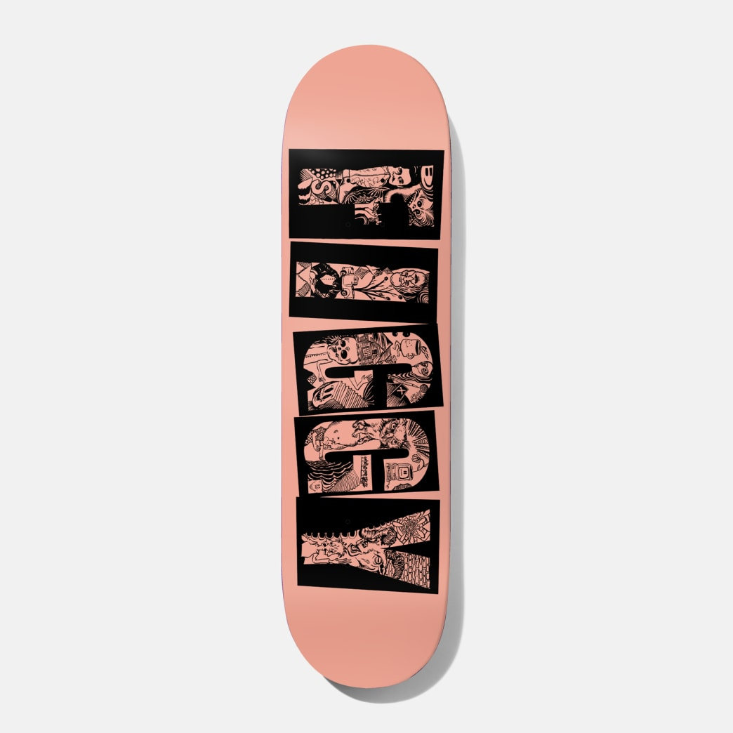 Baker Skateboards Figgy Name Spew Skateboard Deck - 8"