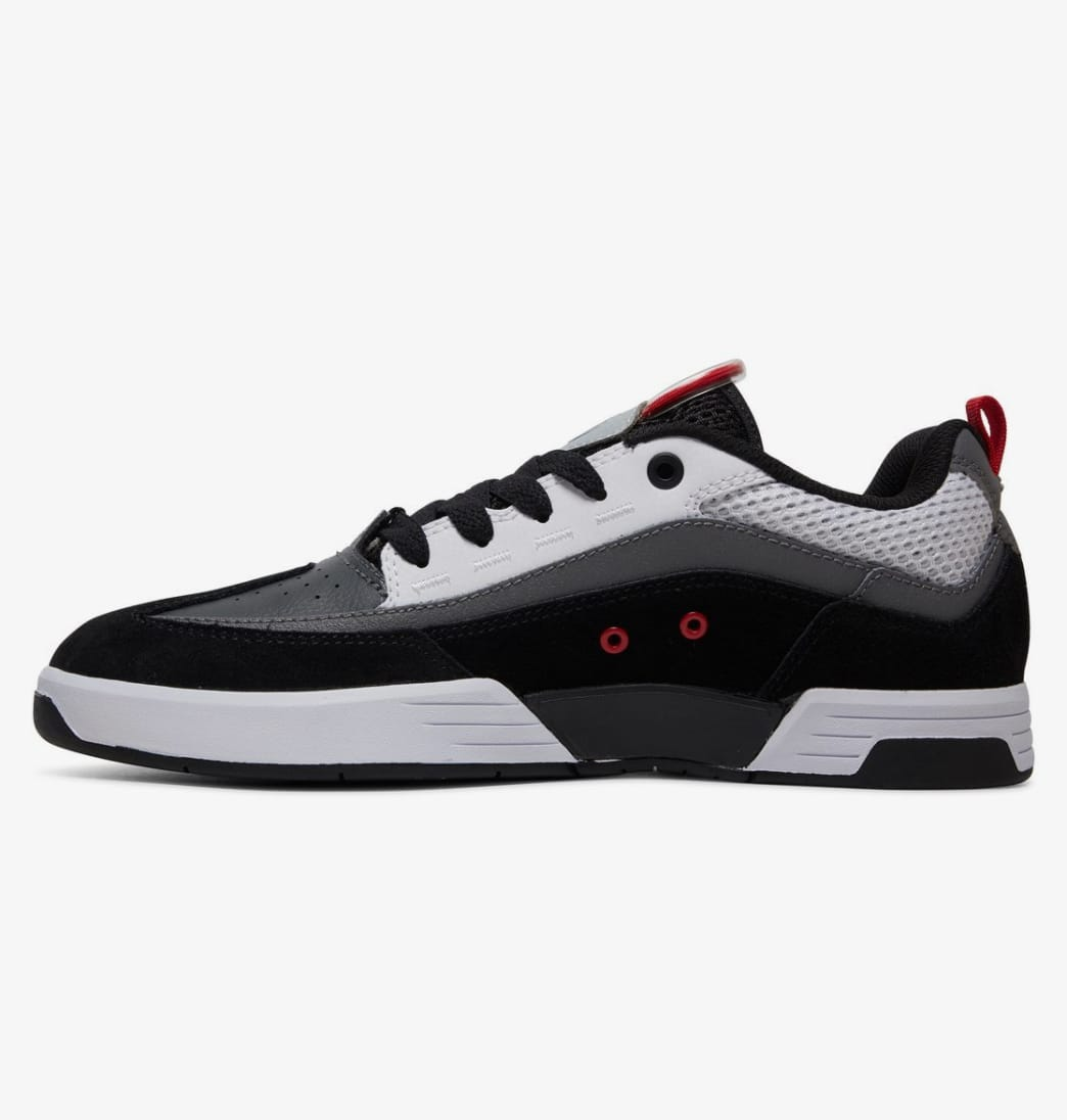 DC Legacy 98 Slim Skate Shoes - Black / Grey / Red | Shoes by DC Shoes 3