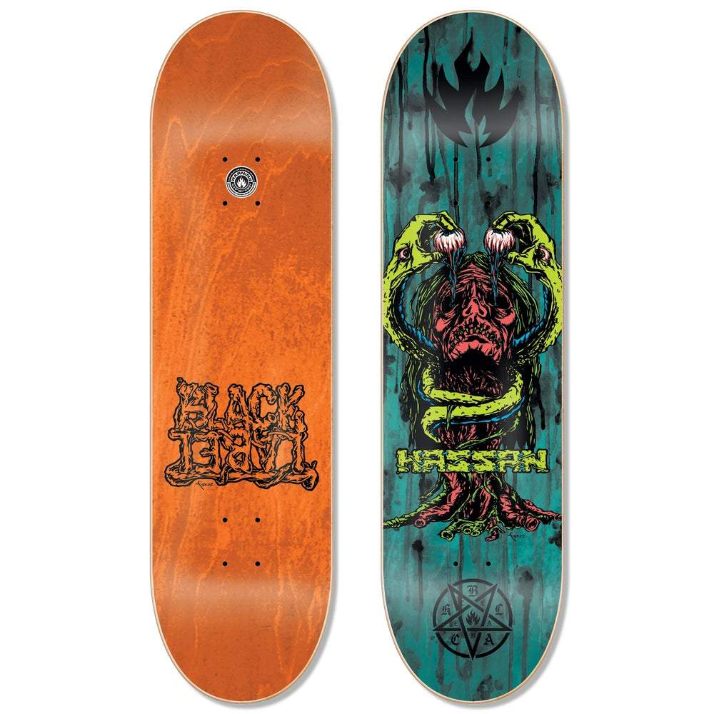 Black Label Omar Hassan Blood & Guts Assorted Stain Deck 8.38″ | Deck by Black Label 1
