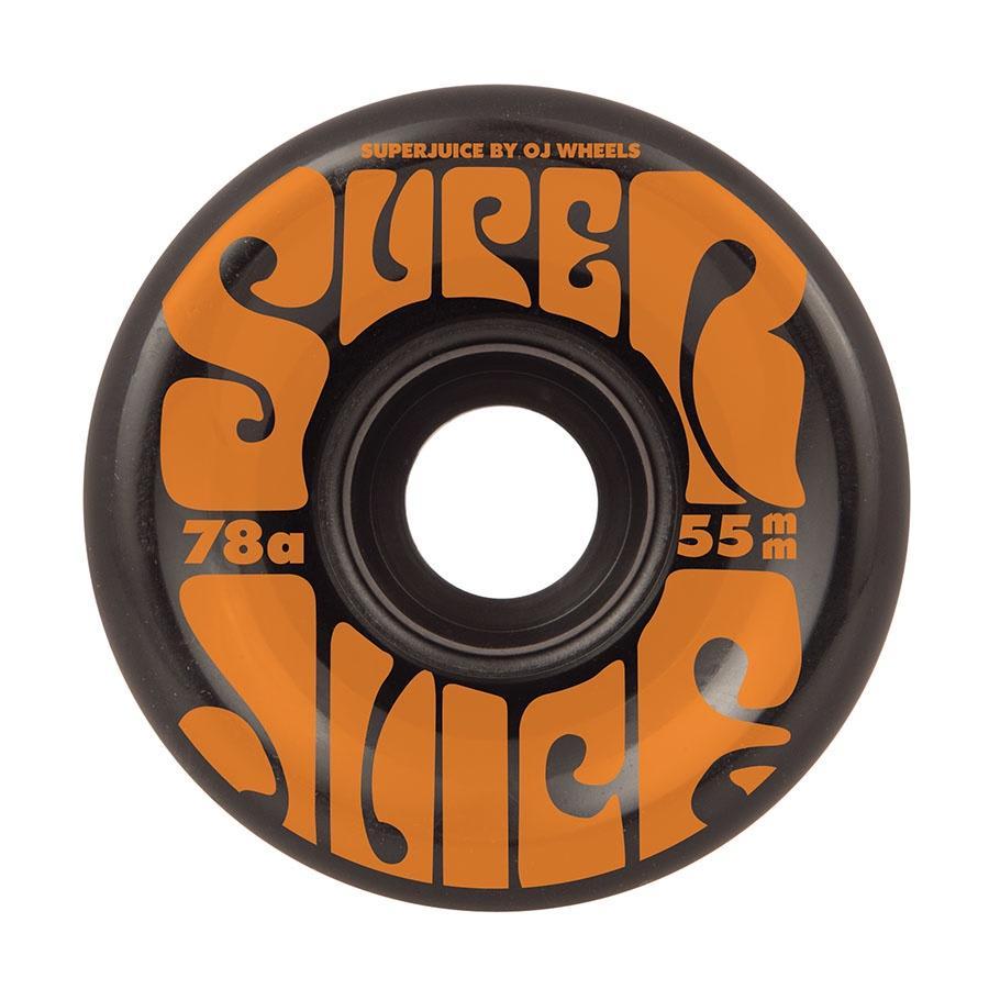 OJ Wheels Mini Super Juice 78A Skateboard Wheels Black - 55mm   Wheels by OJ Wheels 1